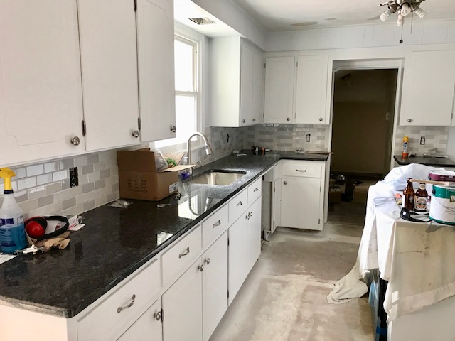 After: Refinished Simply White Cabinets